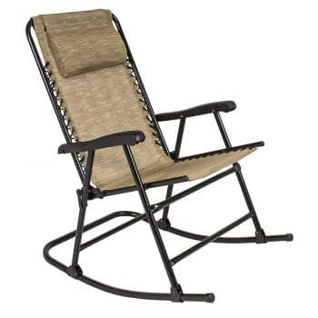 Best Choice Products Folding Rocking Chair Foldable Rocker Outdoor Patio Furniture
