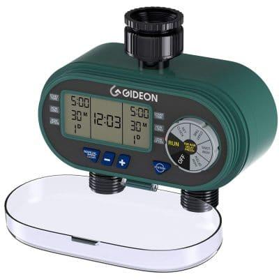 Gideon Electronic Dual-valve Hose Irrigation Water Timer Sprinkler System