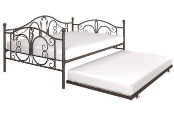 DHP Bombay Full-Size Metal Daybed Frame with Twin-Size Trundle Bed Frame