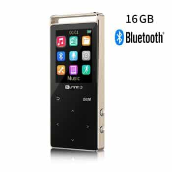 16GB Bluetooth MP3 Music Player with 50 Hrs Playback