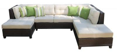 AE Outdoor 4-Piece All Weather Hillborough Sectional Outdoor Furniture