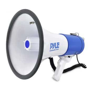 Pyle Megaphone Speaker PA Bullhorn with Built-in Siren