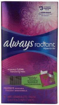 Always Radiant Feminine Wipes-To-Go