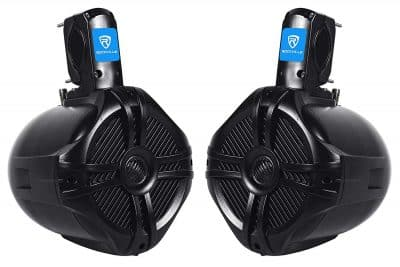 "Pair Rockville RWB65B 6.5"" Black 2 Way 250 Watt Marine Wakeboard Tower Speaker"
