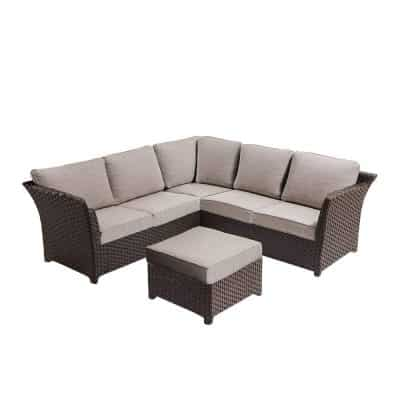Ove Decors CLARA 3 Piece Outdoor Sectional Seating Group Set