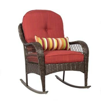 Best ChoiceProducts Wicker Rocking Chair Patio