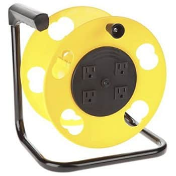 Bayco SL-2000 Cord Storage Reel w/4 Outlets & Resettable 15amp Circuit Breaker