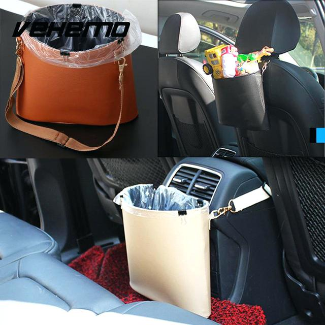 zyckTech 30Pcs Disposable Car Trash Bag Easy Stick-on Waterproof Leakproof Portable Auto Trash Can Bag for Car Office Kitchen