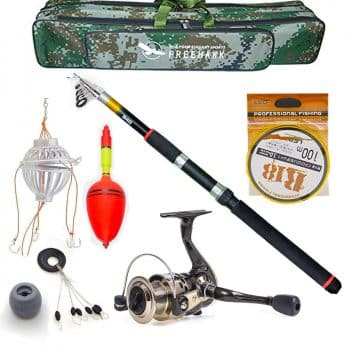 Telescopic Fishing Rod Poles Kit,Travel Spin Spinning Rod and Reel Combos with Reel Line