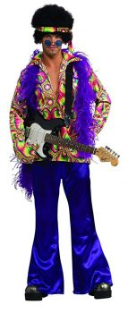 Rubie's Men's Purple Daze Hippie Costume
