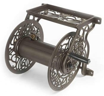 Liberty Garden Products 704 Decorative Cast Aluminum Wall Mount Garden Hose Reel