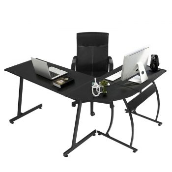 GreenForest L-Shape Corner Computer Office Desk PC Laptop Table