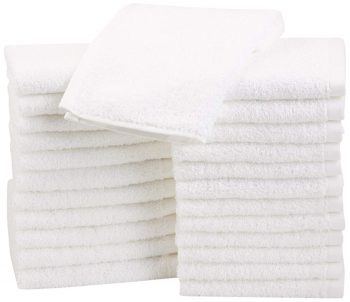 AmazonBasics Cotton Washcloths 42 pack White