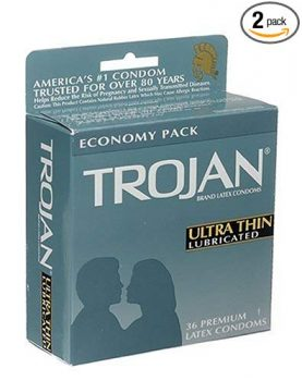 Trojan Ultra Thin Latex Condoms, Primium Lubricant