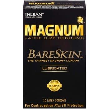 Trojan Magnum Bareskin Lubricated Large Size Condom