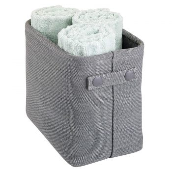 mDesign Soft Cotton Fabric Bathroom Storage
