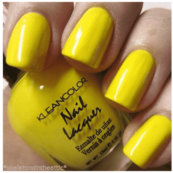 1 New Kleancolor Neon Yellow Nail Polish