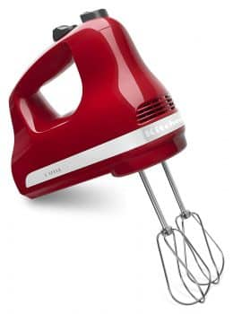 KitchenAid 5- Speed Ultra Power Hand Mixer, Empire Red