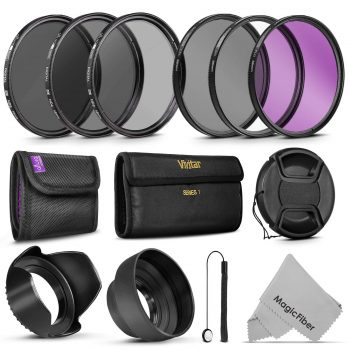58MM Vivitar UV CPL FLD Filters