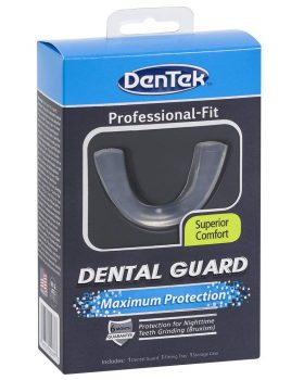 DenTek Maximum Protection 3-piece Dental Guard Kit.