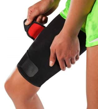 Adjustable Thigh Brace Support Unisex Breathable Neoprene Non-Slip Hamstring Compression Sleeve