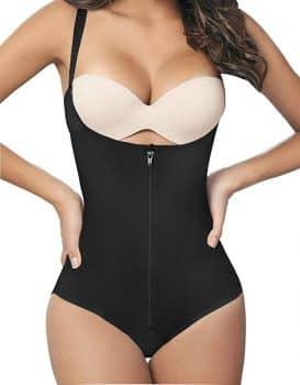 Women Seamless Firm Control Shapewear Faja Open Bust Bodysuit Body Shaper