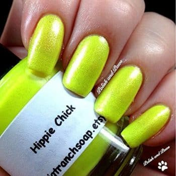 Neon Yellow Nail Polish - Fluorescent - HIPPIE CHICK