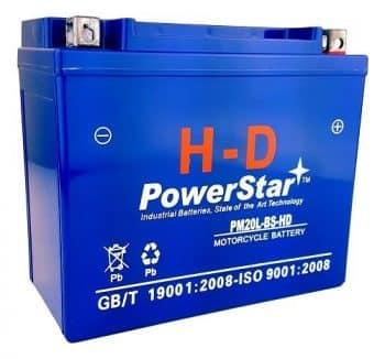 PowerStar-YTX20L BS YTX20LBS Battery Yamaha Grizzly 600 660 700 AGM GEL SEALED 3 YR WARRAN