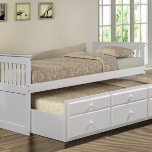 Merax Captain's Platform Storage Bed with Trundle Bed and Drawers