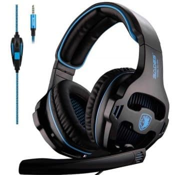 SADES SA810 Gaming Headset Headphone 3.5mm Over-ear with mic Volume control