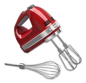 Speed Digital Hand Mixer with Turbo Beater II Accessories and Pro Whisk- Empire Red