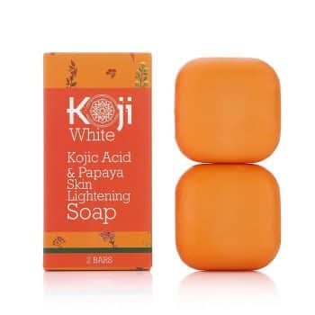 Kojic Acid and Papaya Skin Lightening Soap with Hyaluronic acid- for Dark Spots and Acne Scars