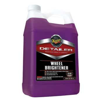 Meguiar's Wheel Brightener – Clear-Coated, Factoy Painted and Chrome Wheel Cleaner – D14001, 1 gal