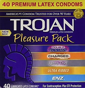 Trojan Pleasure Pack Premium Lubricated Latex Condoms