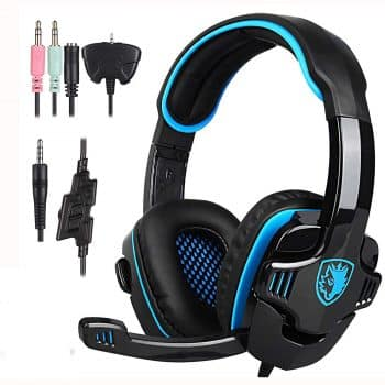 Stereo Gaming Headphone SADES SA708GT PS4 Gaming Headphone with Microphone