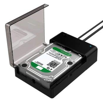 Sabrent USB 3.0 to SATA External Hard Drive Lay-Flat Docking Station for 2.5 or 3.5in HDD
