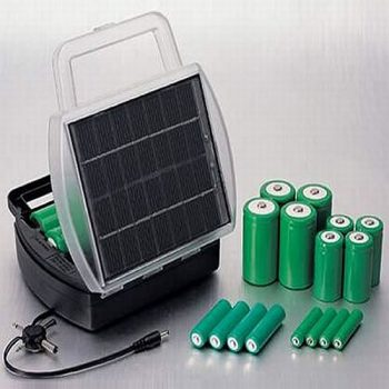 Solar-powered batteries