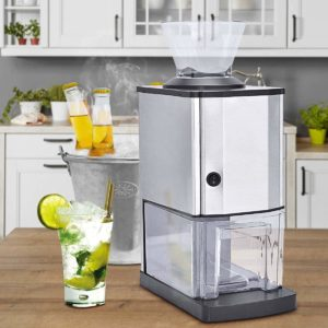 Costzon Electric Ice Crusher, Stainless Steel Ice Shaved Machine for Party