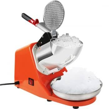 VIVOHOME Electric Ice Crusher Shaver Snow Cone Maker Machine Orange 143lbs