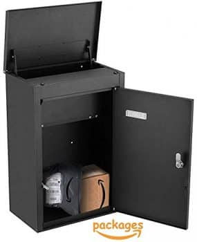 PEELCO Large Modern 19'' Parcel Dropbox for Package and Envelope Storage