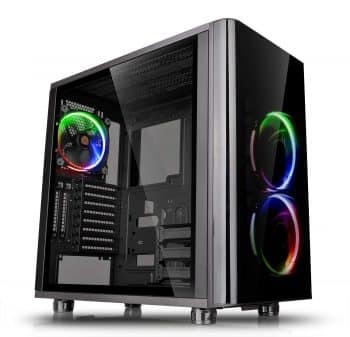 Thermaltake View 31 RGB Dual Tempered Glass SPCC ATX Mid Tower Gaming Computer Case Chassis