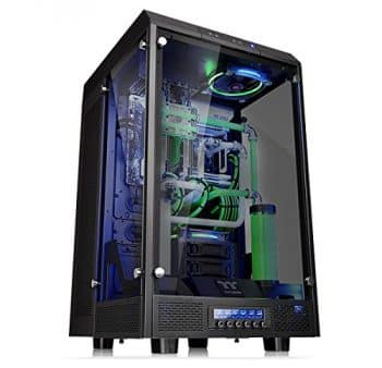 Thermaltake CA-1H1-00F1WN-00 Tower 900 Tempered Glass Fully Modular E-ATX Vertical Super Tower Gaming Computer Case Chassis Black Edition