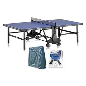 Kettler Champ 5.0 Outdoor Table Tennis Table with Outdoor Accessory Bundle