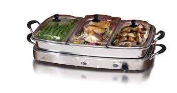 Elite Platinum EWM-9933 Deluxe Triple Server Food Party Silicone Handles