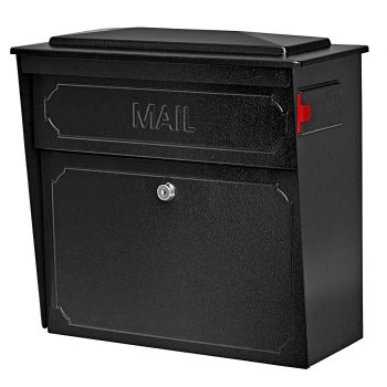 Mail Boss 7172 Townhouse Locking Mailbox 15.8 in W X 16.1 in D X 7-1/2 in H, 14/16  Steel