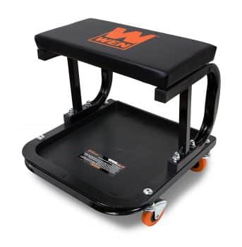 WEN 73011 Rolling Mechanic Seat with Onboard Storage