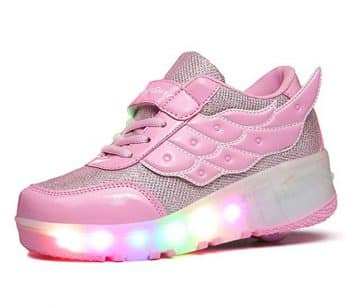 Boy and Girl LED Light Up Roller Skate Shoes