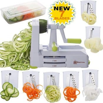 Brieftons 7 Blade Spiralizer Strongest and Heavy Duty Vegetable Slicer