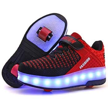 Roller Shoes Boys Girls USB Charge Light Up Sneaker Kids Wheeled Skate Shoes