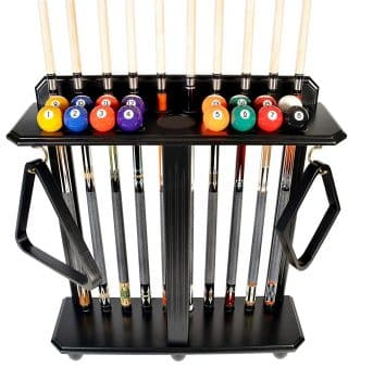 Cue Rack Only 10 Pool Billiard Stick and Ball Set